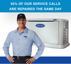 92% OF OUR SERVICE CALLS  ARE REPAIRED THE SAME DAY